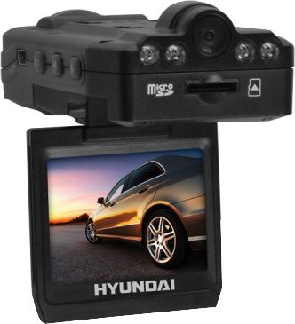 Автомобильный видеорегистратор Hyundai H-DVR10 Black - вид сзади (вторая камера)