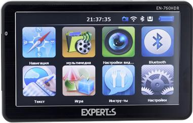 GPS навигатор Experts EN-760HDR - вид спереди