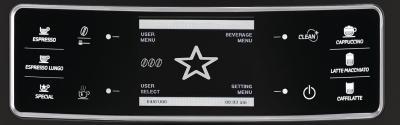 Кофемашина Philips Xelsis Evo Full Black (HD8953/09) - панель управления