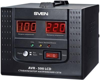 Стабилизатор напряжения Sven AVR-500 LCD - общий вид