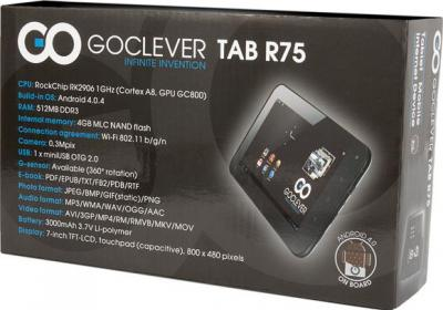 Планшет GoClever TAB R75 4GB - коробка