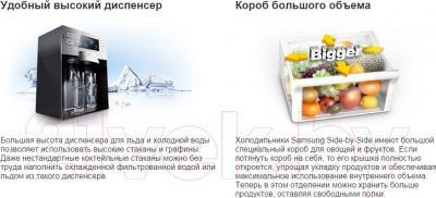 Холодильник с морозильником Samsung RSH5ZLMR1/BWT