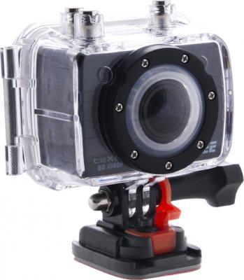 Экшн-камера TeXet DVR-905S (Black) - общий вид в водонепроницаемом боксе