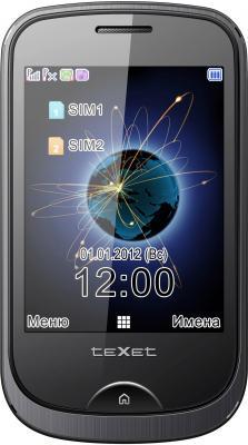 Мобильный телефон TeXet TM-605TV Black - общий вид