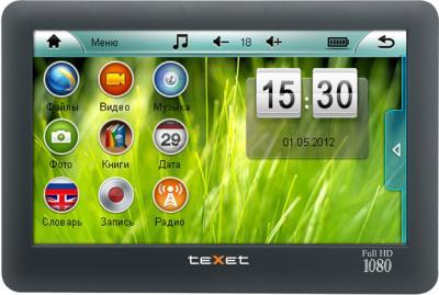 MP3-плеер TeXet T-970HD (8 Gb) Black - вид спереди