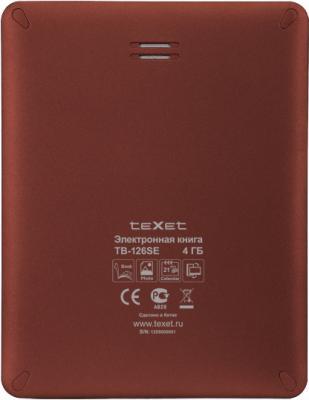 Электронная книга TeXet TB-126SE (Red) - вид сзади