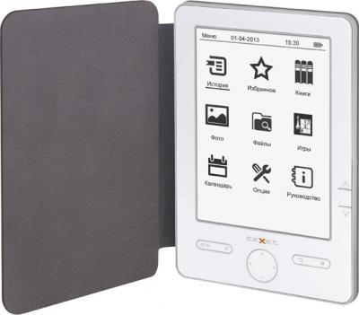 Электронная книга TeXet TB-504 (White) - в чехле