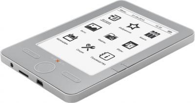 Электронная книга TeXet TB-504 (Gray) - общий вид