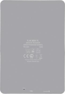 Электронная книга TeXet TB-504 (Gray) - вид сзади