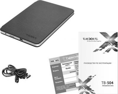 Электронная книга TeXet TB-504 (Gray) - комплектация