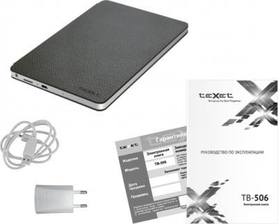 Электронная книга TeXet TB-506 Gray - комплектация