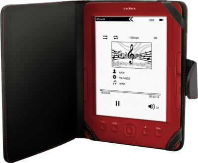 Электронная книга TeXet TB-146SE (Red) - в чехле