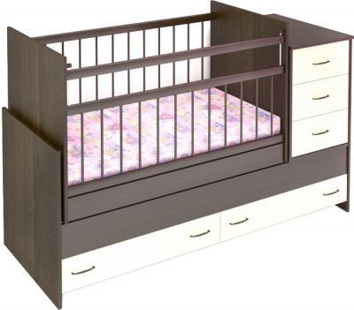 Детская кроватка Бэби Бум Варвара (венге) - общий вид