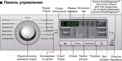 Стиральная машина LG F1296SD3 - панель управления