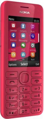 Мобильный телефон Nokia Asha 206 Magenta - общий вид