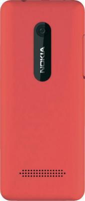 Мобильный телефон Nokia Asha 206 Magenta - задняя крышка