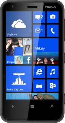 Смартфон Nokia Lumia 620 Black - общий вид
