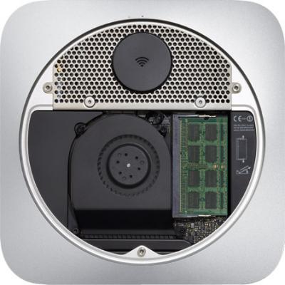 Неттоп Apple Mac mini (MD388RS/A) - вид снизу, внутри