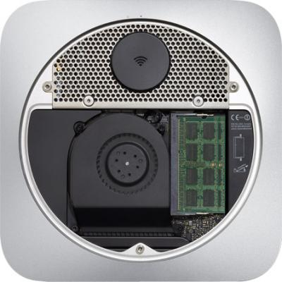Неттоп Apple Mac mini Server (MD389RS/A) - вид снизу, внутри