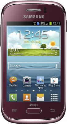 Смартфон Samsung S6312 Galaxy Young Duos Red (GT-S6312 WRASER) - общий вид
