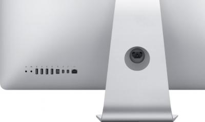 Моноблок Apple iMac 27'' (MD096RS/A) - вид сзади, разъемы