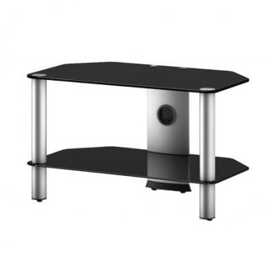 Стойка для ТВ/аппаратуры Sonorous Neo 270 Black Glass-Silver - общий вид