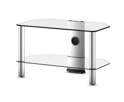Стойка для ТВ/аппаратуры Sonorous Neo 270 Transparent Glass-Silver - общий вид