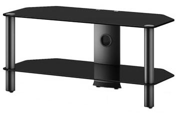 Стойка для ТВ/аппаратуры Sonorous Neo 290 Black Glass-Black - общий вид