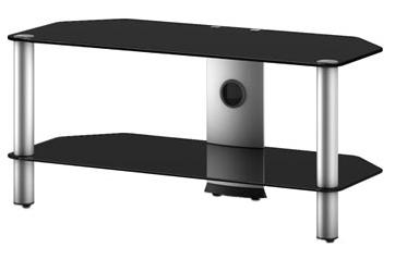Стойка для ТВ/аппаратуры Sonorous Neo 290 Black Glass-Silver - общий вид