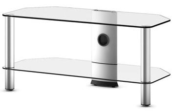 Стойка для ТВ/аппаратуры Sonorous Neo 290 Transparent Glass-Silver - общий вид