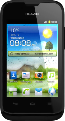 Смартфон Huawei Ascend Y210D Black - общий вид