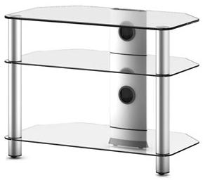 Стойка для ТВ/аппаратуры Sonorous Neo 370 Transparent Glass-Silver - общий вид