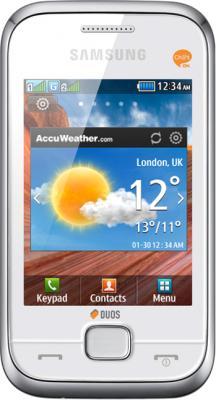 Мобильный телефон Samsung C3312 Champ Deluxe Duos White (GT-C3312 PWRSER) - общий вид
