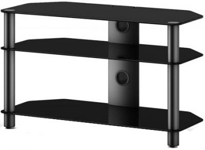 Стойка для ТВ/аппаратуры Sonorous Neo 390 Black Glass-Black - общий вид
