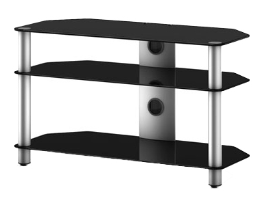 Стойка для ТВ/аппаратуры Sonorous Neo 390 Black Glass-Silver - общий вид
