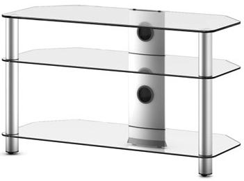 Стойка для ТВ/аппаратуры Sonorous Neo 390 Transparent Glass-Silver - общий вид