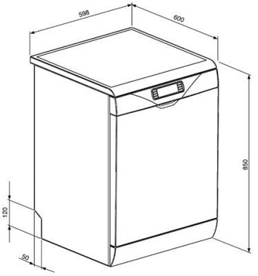 Посудомоечная машина Smeg LSA6439X2 - схема