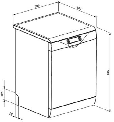 Посудомоечная машина Smeg LVS367B - схема