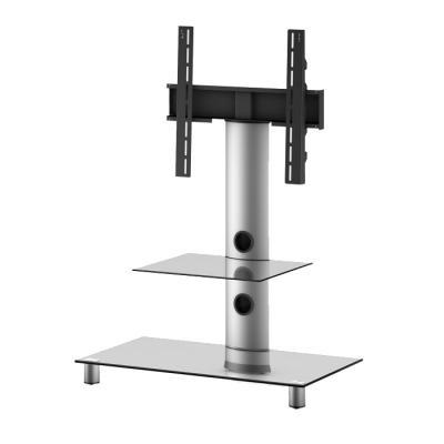 Стойка для ТВ/аппаратуры Sonorous Neo 81 Transparent Glass-Silver - общий вид