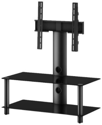 Стойка для ТВ/аппаратуры Sonorous Neo 95 Black Glass-Black - общий вид