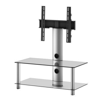 Стойка для ТВ/аппаратуры Sonorous Neo 95 Transparent Glass-Silver - общий вид