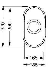 Мойка кухонная Smeg UM16 - габаритные размеры