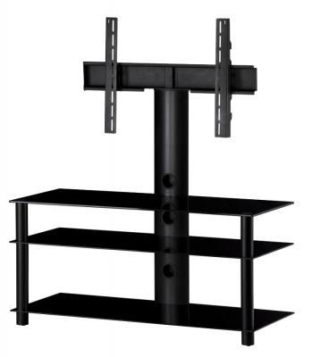 Стойка для ТВ/аппаратуры Sonorous Neo 1103 Black Glass-Black - общий вид