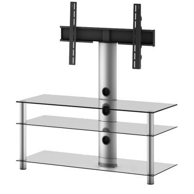 Стойка для ТВ/аппаратуры Sonorous Neo 1103 Transparent Glass-Silver - общий вид