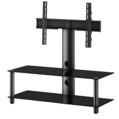 Стойка для ТВ/аппаратуры Sonorous Neo 110 Black Glass-Black - общий вид