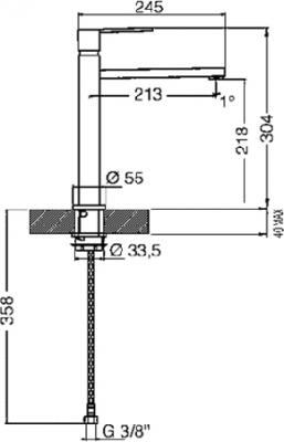 Смеситель Smeg MFQ8-IS2 - схема