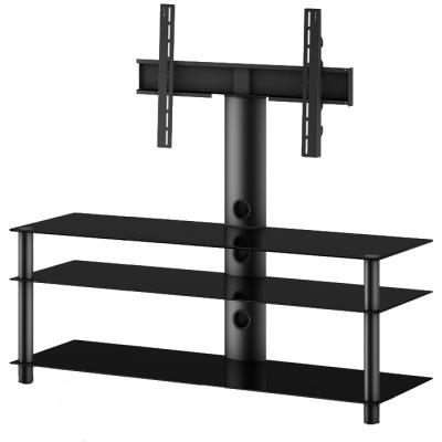 Стойка для ТВ/аппаратуры Sonorous Neo 1303 Black Glass-Black - общий вид