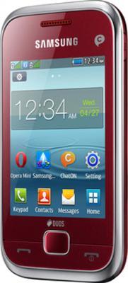 Мобильный телефон Samsung C3312 Rex 60 Duos Flamingo Red - общий вид