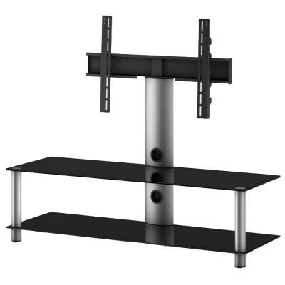Стойка для ТВ/аппаратуры Sonorous Neo 130 Black Glass-Silver - общий вид