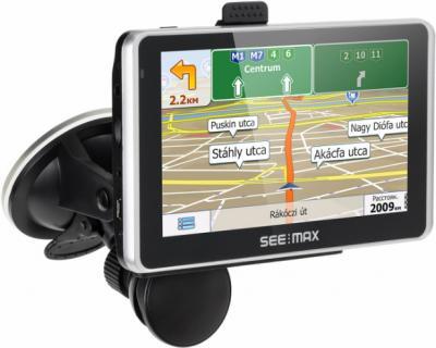 GPS навигатор SeeMax navi E550 HD DVR 8GB - вид сбоку